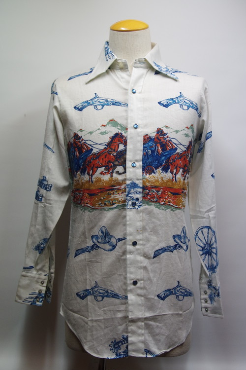 70's MILLER Western Jean Shirts