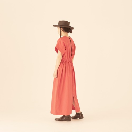 woman's organic cotton linen canvas dress