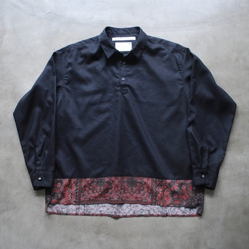 White Mountaineering BANDANA PRINTED CONTRASTED PULLOVER SHIRT