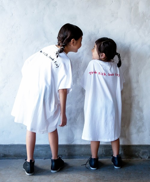 michirico ミチリコ think big T color:White&Red logo size:S(90-100)・M(100-115)