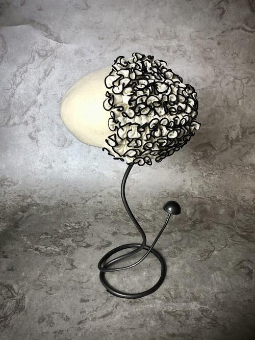 frill beret   (フリル ベレー)white / black