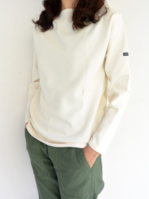 SAINT JAMES セントジェームス OUESSANT SOLID(無地)ECRU(生成)【正規取り扱い品】