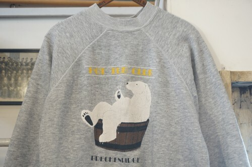80's polar bear printed Sweatshirt