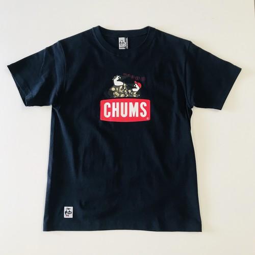 限定オリジナル NEST焼津×CHUMS魚河岸親子Booby T-Shirt ネイビー