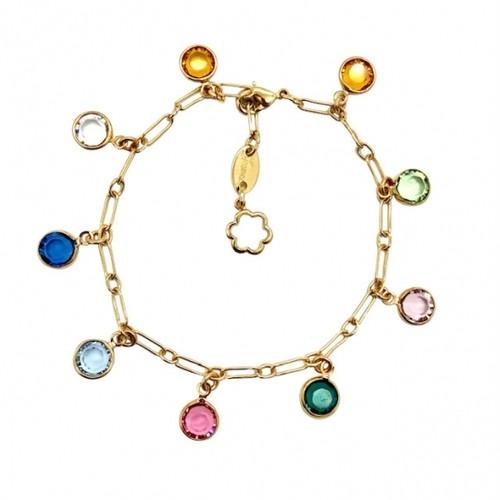 ブレスレット マルチカラー ゴールド KRiKOR ドイツ製 Bracelet Multi-color Gold