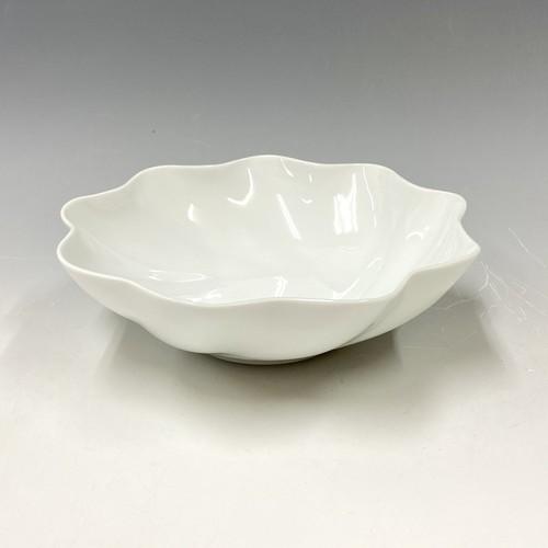 【中尾純】白磁輪花鉢(大)