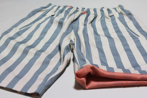 EACHTIME. EASY SHORTS BLUE STRIPE