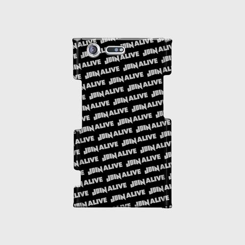 (通販限定)【送料無料】Xperia XZ Premium(SO-04J)_スマホケース ストライプ_ブラック