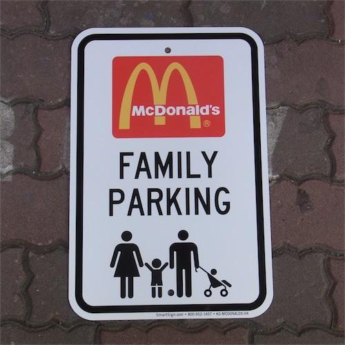 US dead stock METALSIGN McDo FAMILY