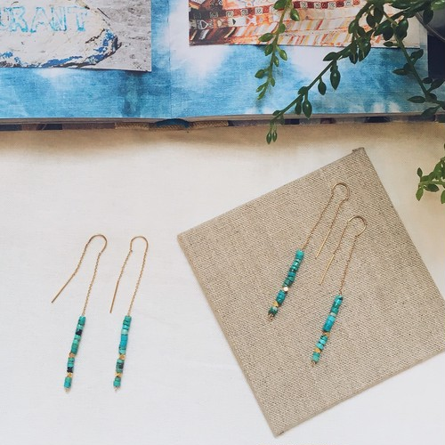 Turquoise Threaded Earring