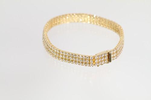 【今だけ大幅値下げ!】K18 6.44ct ダイヤモンドブレスレット ○