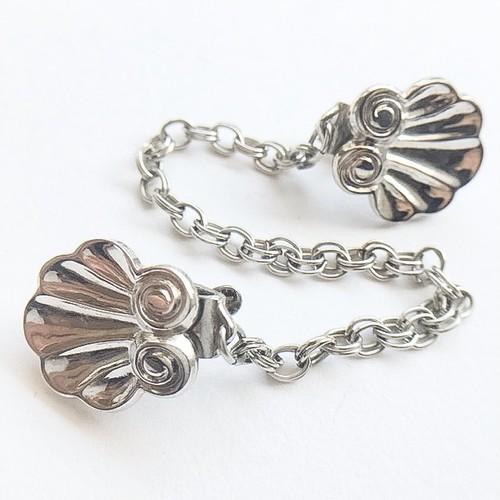 silver shell sweater clip[s-194]