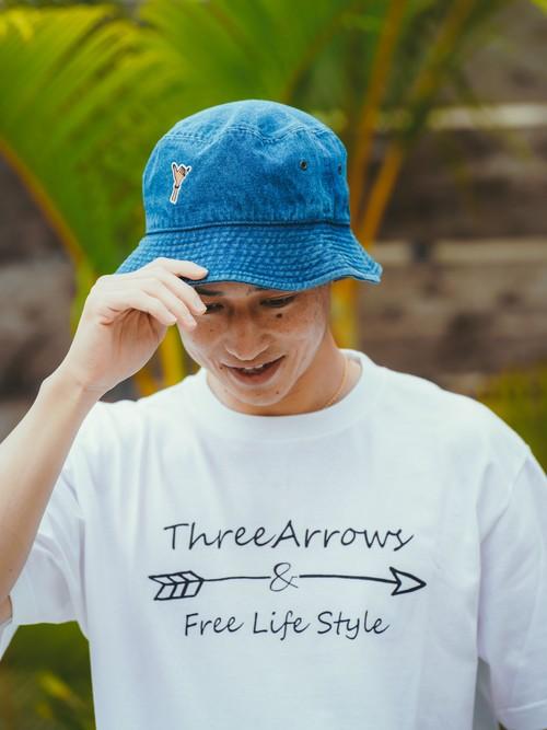 Aloha Patch Bucket Hat (indigo)