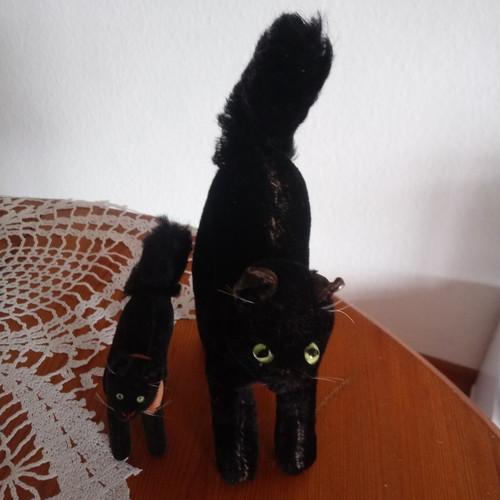 STEIFF オールドシュタイフ 黒猫2個セット ドイツヴィンテージ
