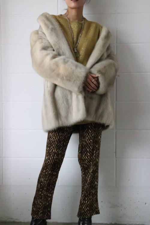 60's mink fur long coat