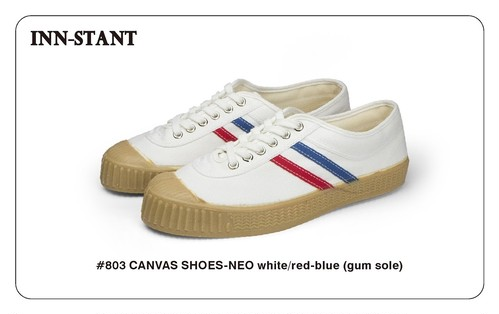 #803 CANVAS SHOES-NEO white/red-blue(gum sole) INN-STANT インスタント 【税込・送料無料】