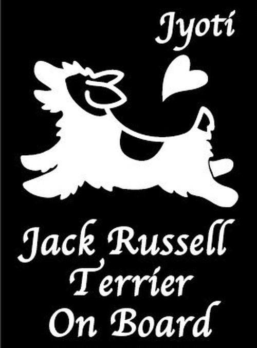 『ジャックラッセル』名入れステッカー(Sサイズ)