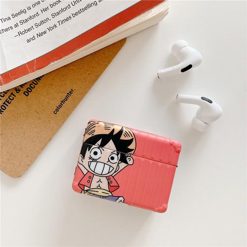 【注文商品】Cute Cartoon Character Square Soft TPU Airpods Proケース【Pink】