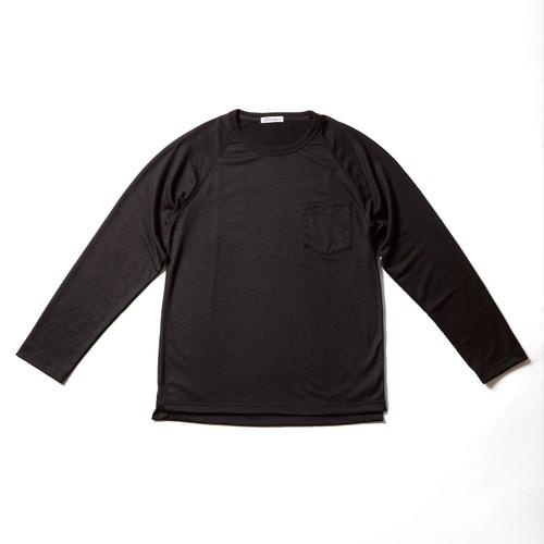 WOOL-LONGSLEEVE-Tshirt ブラウン