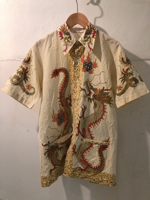 70's batik dragon hawaiian shirt
