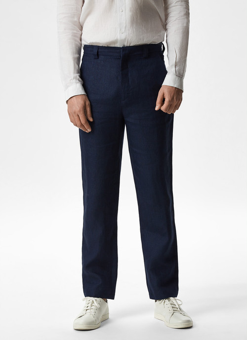 LINEN TROUSERS WITH SIDE POCKETS