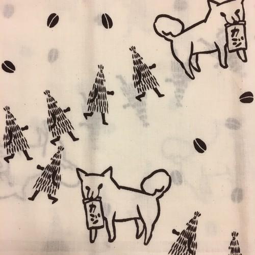 カジイヌ手ぬぐい(キナリ)