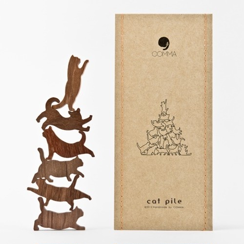 Cat Pile - キャットパイル【オレンジ】地味にはまる!色んなポーズをしたネコのつみき 全5種類(A73004)