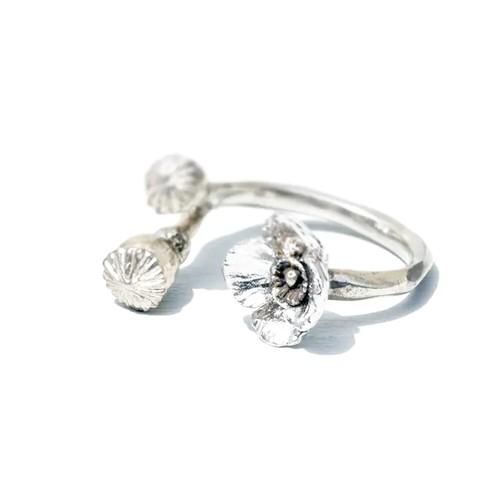 ポピー ring (white)