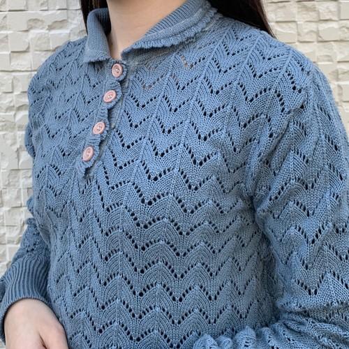 (LOOK) henry neck acryl knit tops