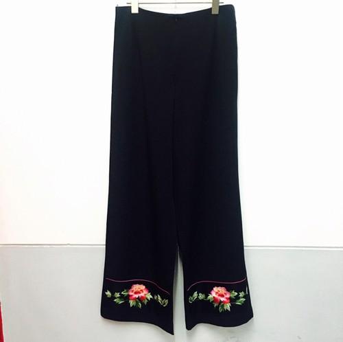 china pants -flower-