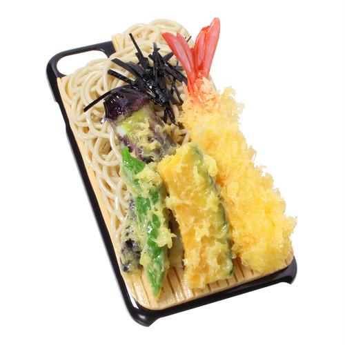 [8037]食品サンプル屋さんのスマホケース(iPhone7/iPhone8:天ざるそば)【メール便不可】