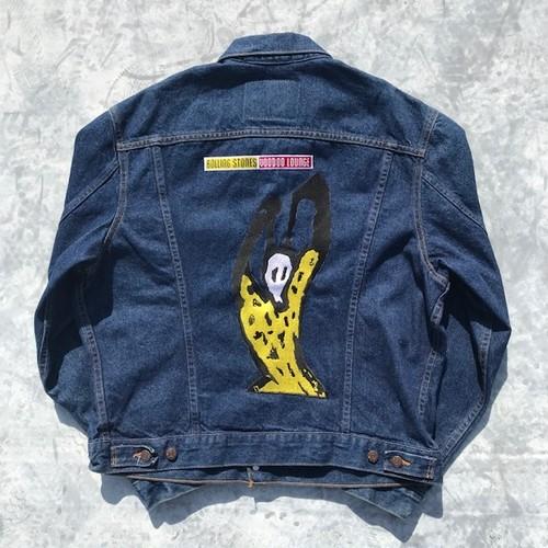 90's Rolling Stones × Levi's 70506 デニムジャケット USA製 94年 VOODOO LOUNGE ワールドツアー 希少 44 美品