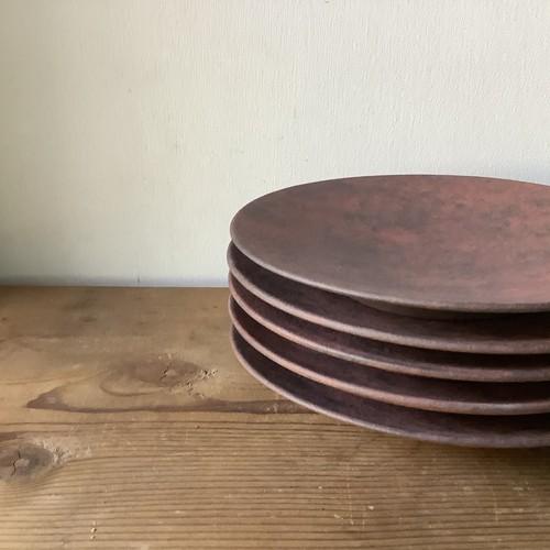 6寸皿(赤)