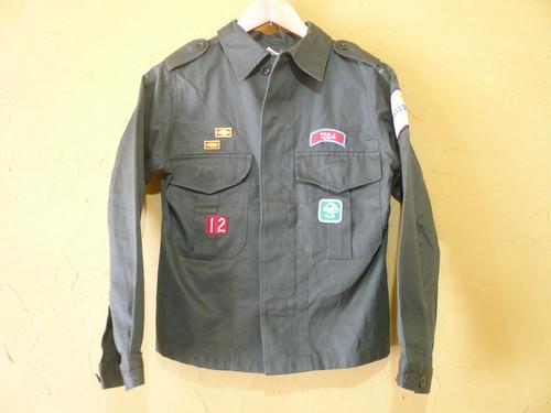 ビンテージ ワッペン多数 シャツジャケット/軍物ミリタリーボーイスカウトヨーロッパOLD