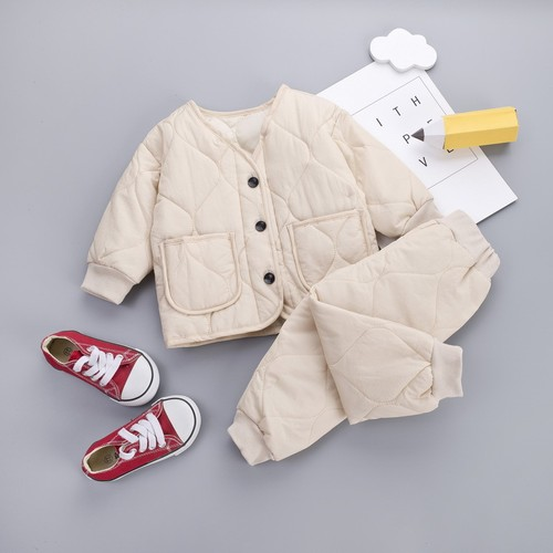 【注文商品】【ベビー / キッズ】Toddler Cotton Outfit Tops / Pants Set【Beige】