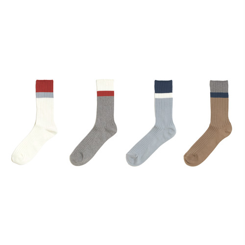 MULTI COLOR RIB SOCKS