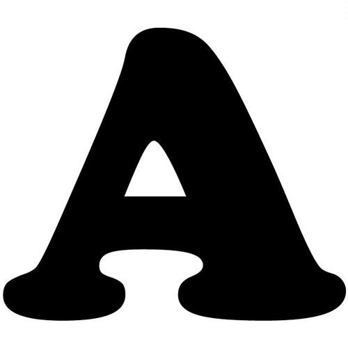 アルファベットA~Z(黒、Lサイズ、H100mm)