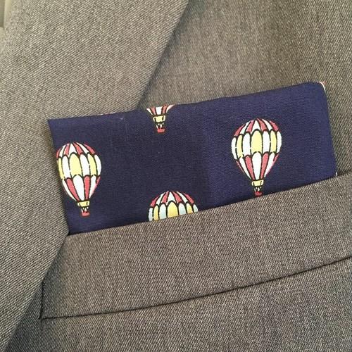 気球柄ポケットチーフ