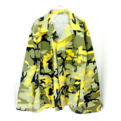 yellow camo jacket