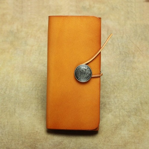 Vintage Leather Wallet Long Purse Classic Wallet ロング クラシック レザー 天然 ビンテージ 財布 パスケース ウォレット (YYB99-6690113)