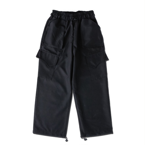 WIDE CARGO PANTS / BLACK