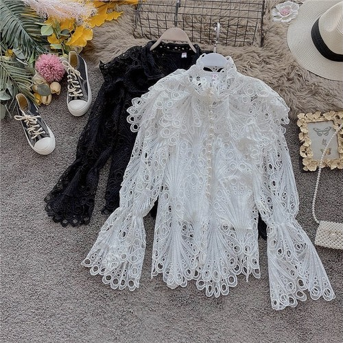 frill lace tops 2color