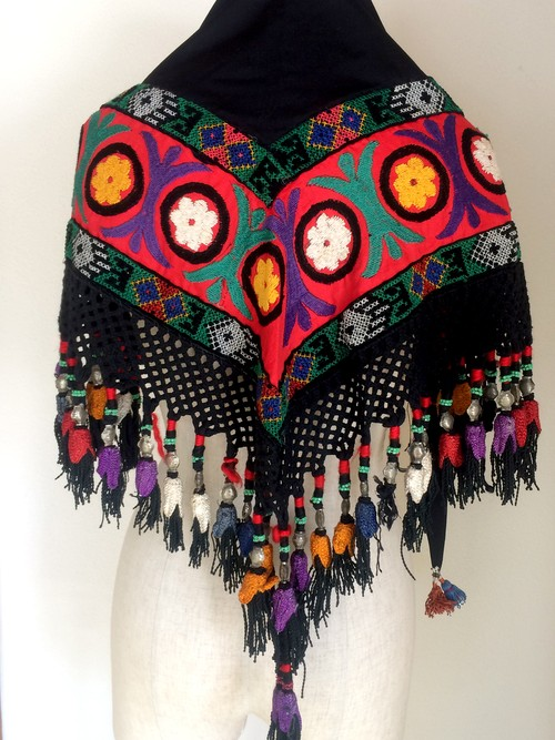 embroidery tassel scarf no.186