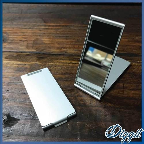 【SALE】アルミニウム・スリムミラー・携帯型ミラー・鏡・化粧直し・エチケット