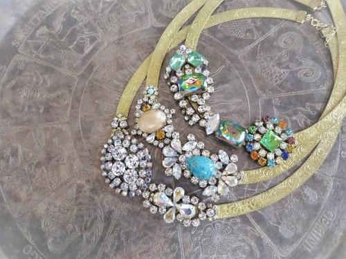 ヴィンテージビジューネックレス vintage necklace bijou <NC-MS1-3>