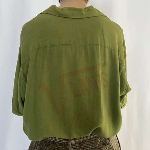 60-70's LANE MATE   bowling S/S shirt (V0639M)