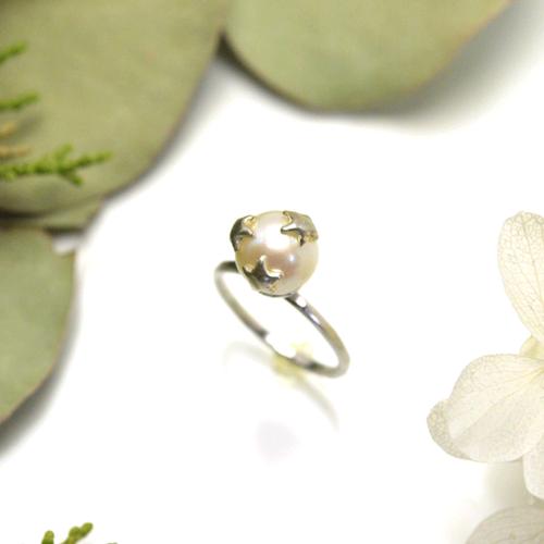 《受注制作》Three star pearl ring