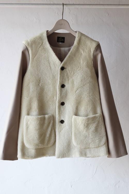 【Needles】v neck 2p jacket twill