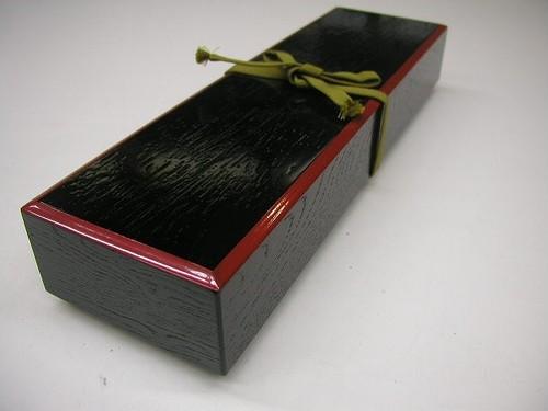 越前塗 木製 短冊箱 掻合せ
