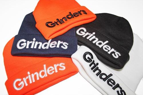 GRINDERS logo knit cap